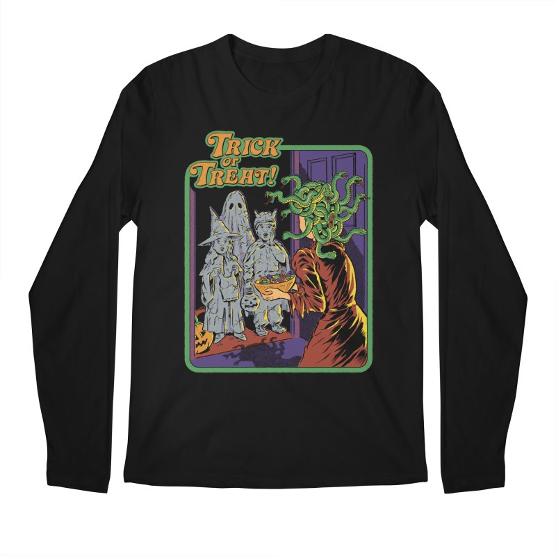 Trick or Treat Men's Regular Longsleeve T-Shirt by Steven Rhodes