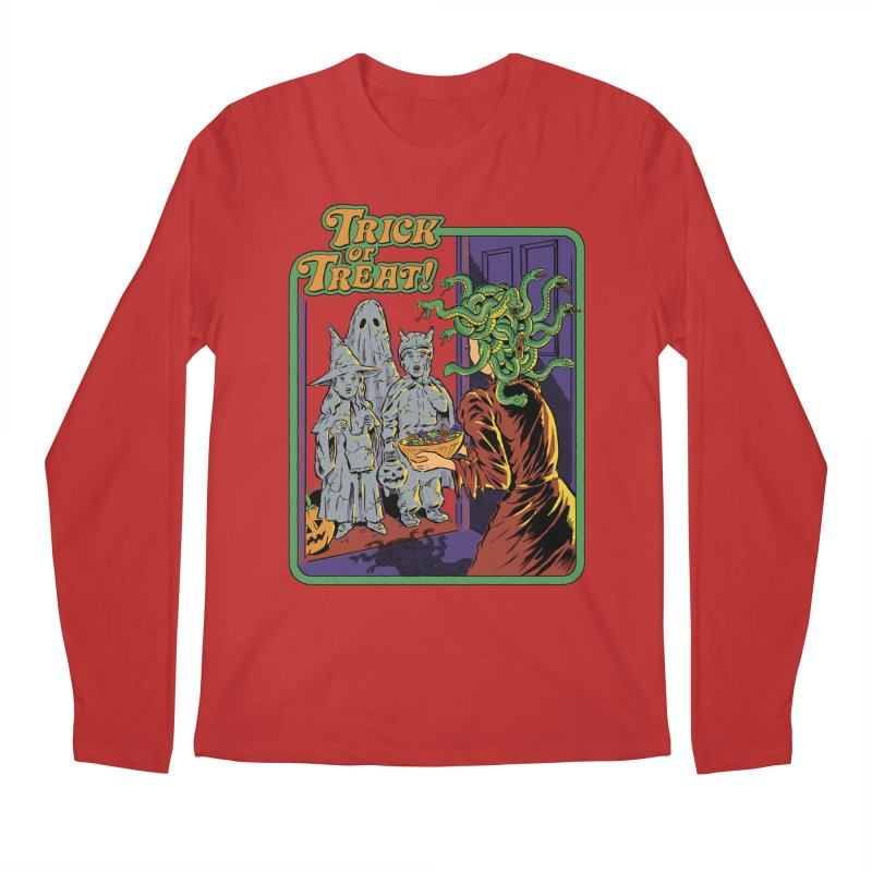 Trick or Treat Men's Regular Longsleeve T-Shirt by Steven Rhodes