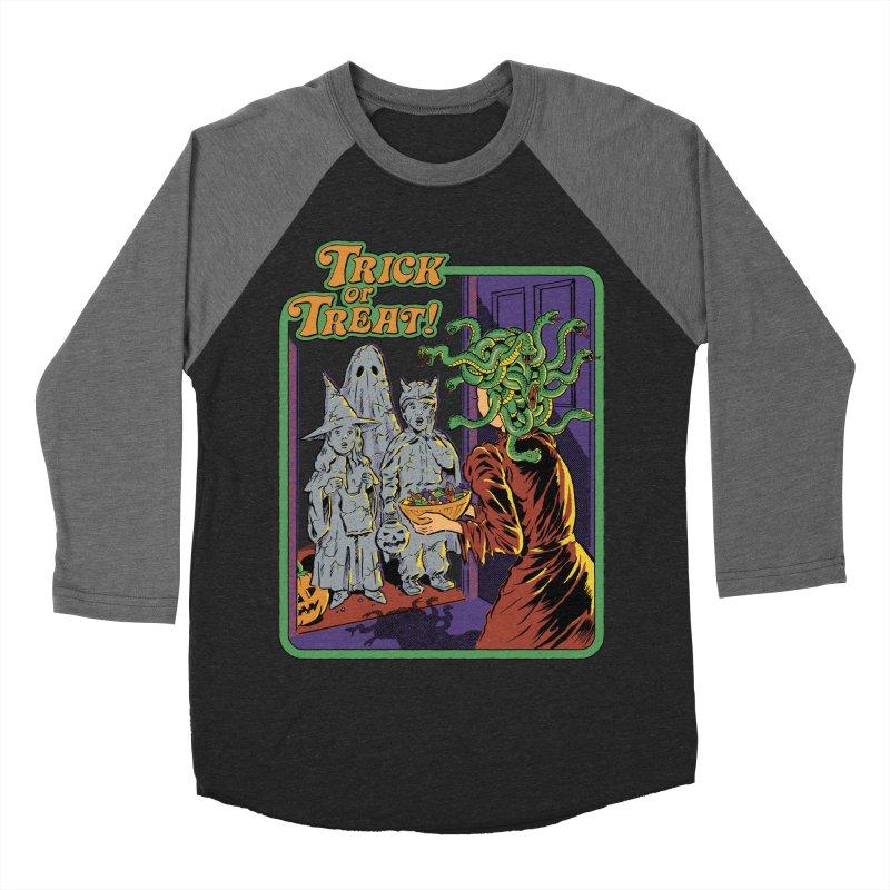 Trick or Treat Men's Baseball Triblend Longsleeve T-Shirt by Steven Rhodes