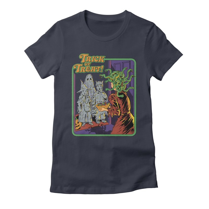 Trick or Treat Women's Fitted T-Shirt by Steven Rhodes
