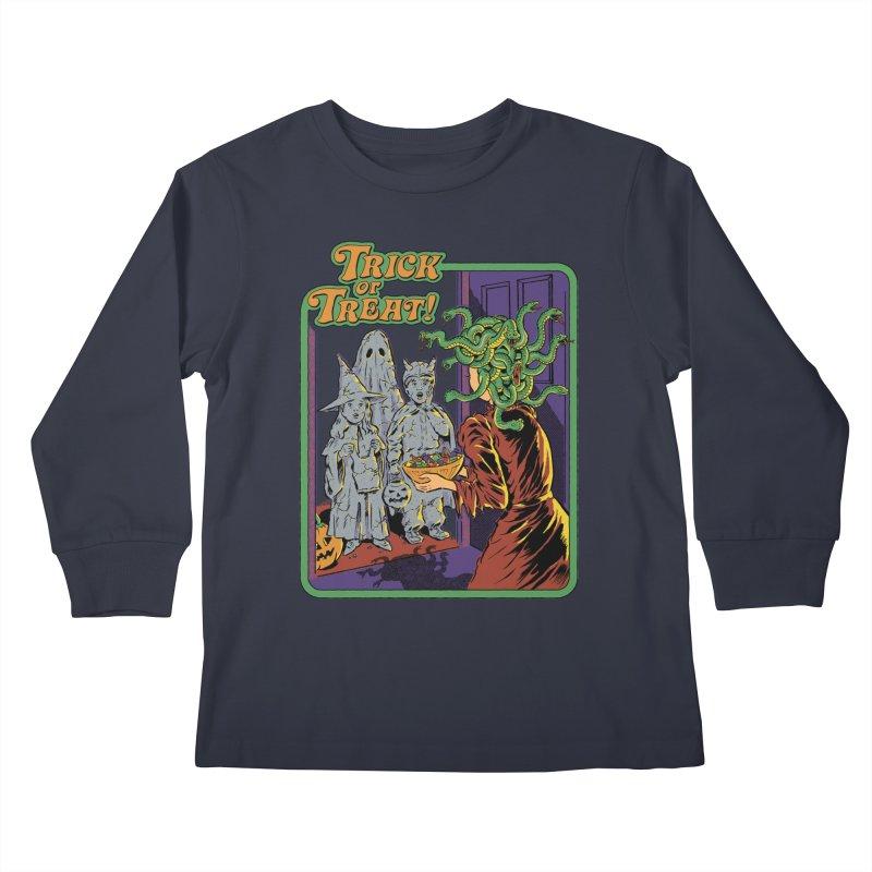 Trick or Treat Kids Longsleeve T-Shirt by Steven Rhodes