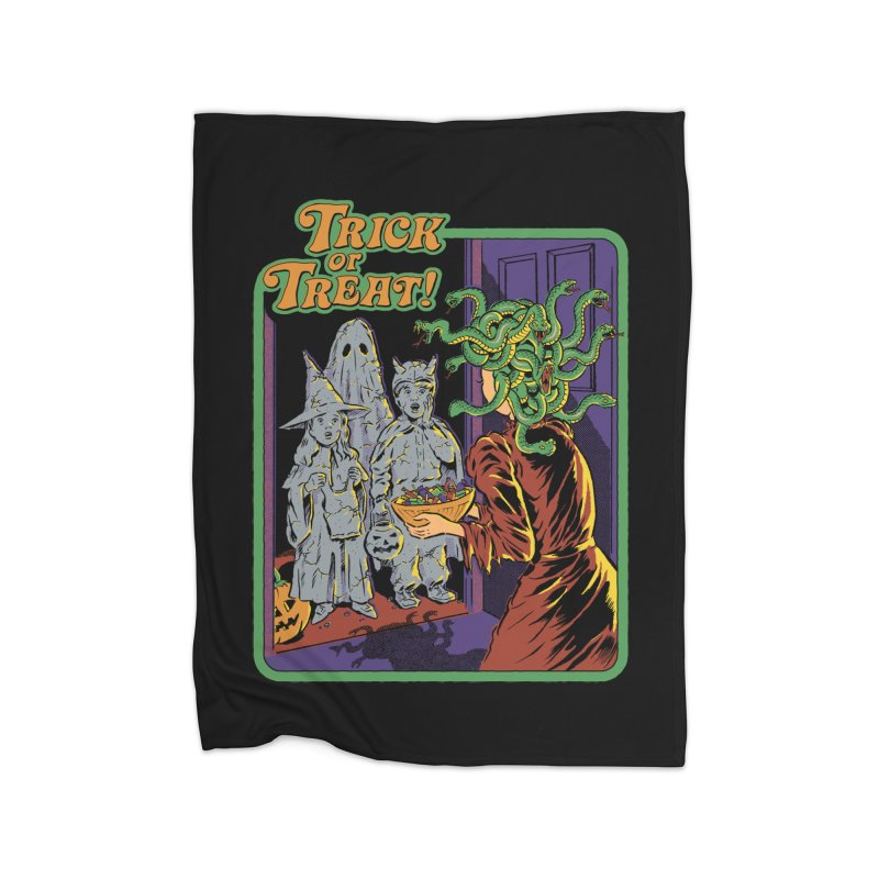 Trick or Treat Home Fleece Blanket Blanket by Steven Rhodes