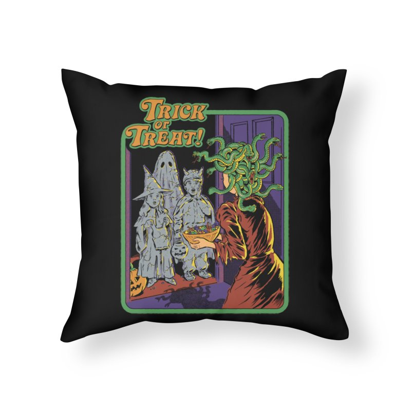 Trick or Treat Home Throw Pillow by Steven Rhodes