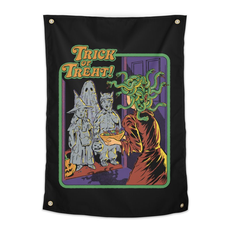 Trick or Treat Home Tapestry by Steven Rhodes