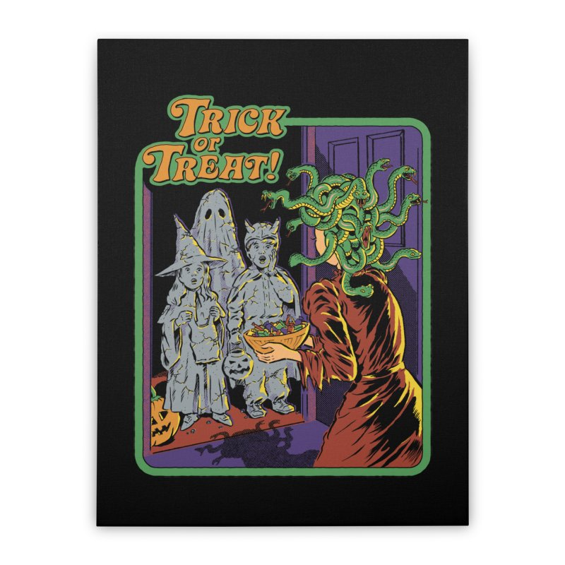 Trick or Treat Home Stretched Canvas by Steven Rhodes