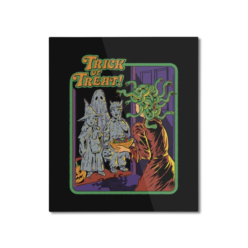 Trick or Treat Home Mounted Aluminum Print by Steven Rhodes