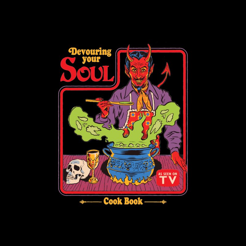 Devouring Your Soul Men's T-Shirt by Steven Rhodes