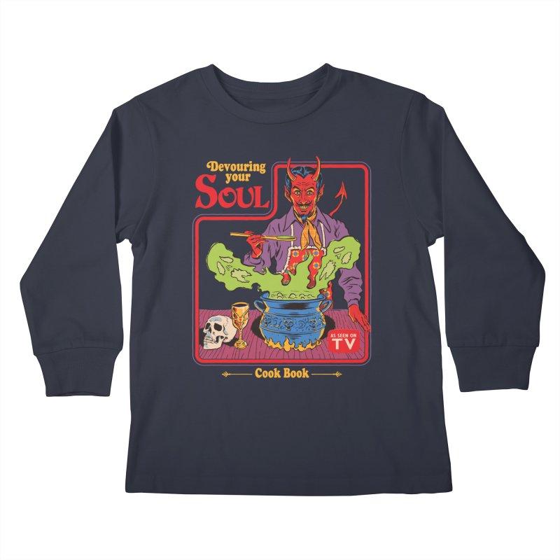 Devouring Your Soul Kids Longsleeve T-Shirt by Steven Rhodes