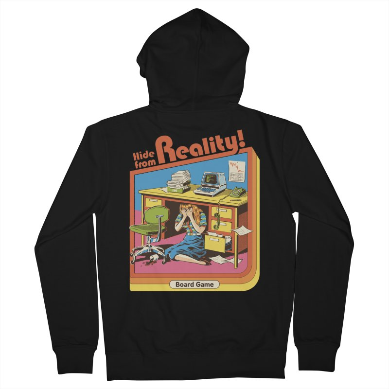 Hide From Reality Women's French Terry Zip-Up Hoody by Steven Rhodes