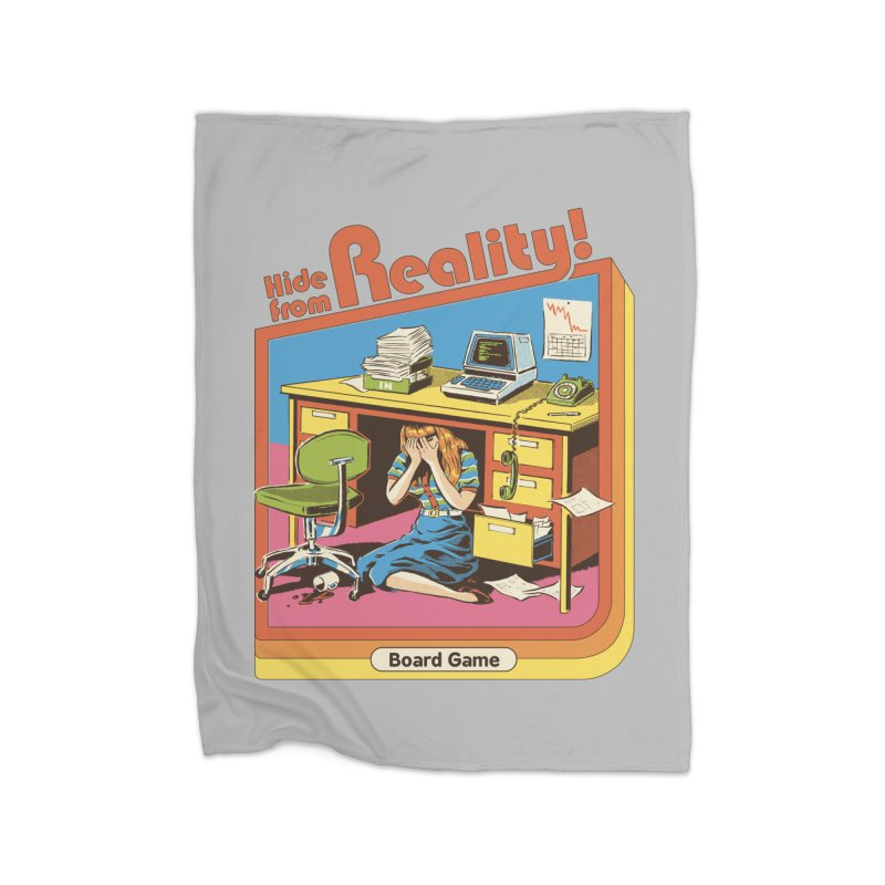 Hide From Reality Home Fleece Blanket Blanket by Steven Rhodes