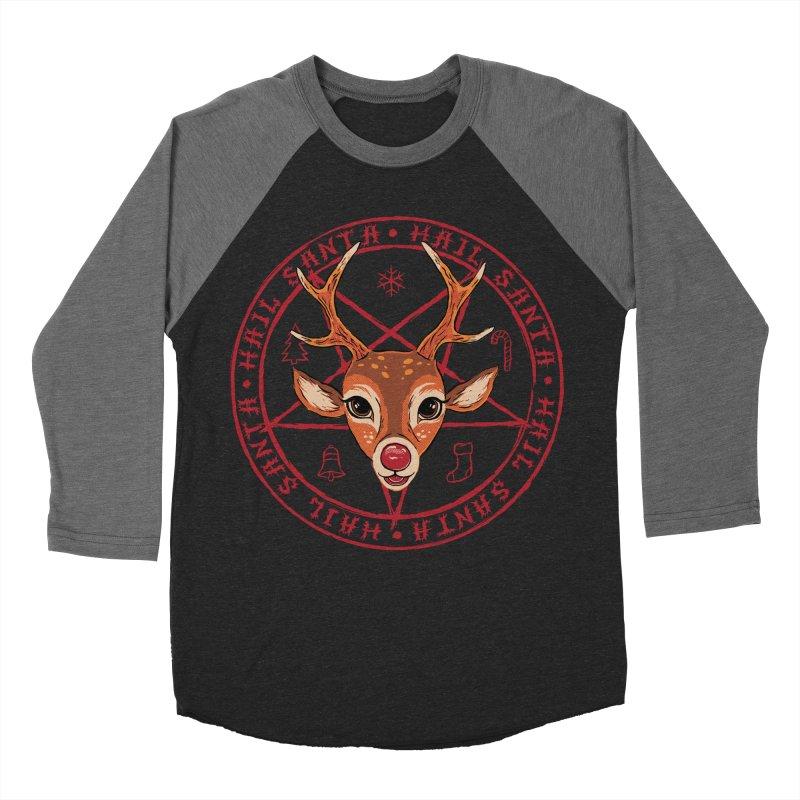 Hail Santa Men's Baseball Triblend Longsleeve T-Shirt by Steven Rhodes