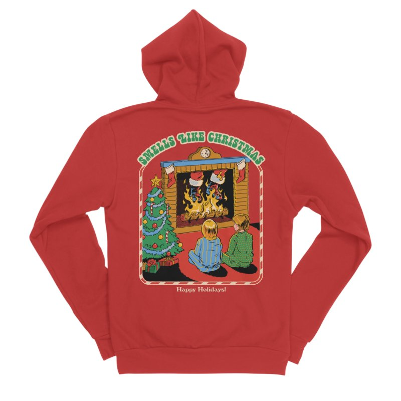 Smells Like Christmas Men's Sponge Fleece Zip-Up Hoody by Steven Rhodes