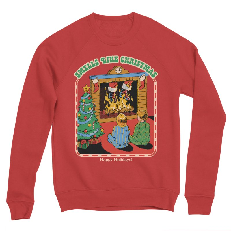 Smells Like Christmas Men's Sponge Fleece Sweatshirt by Steven Rhodes