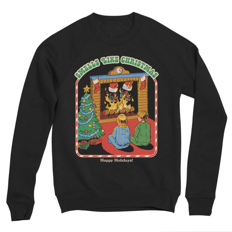 Smells Like Christmas Men's Sponge Fleece Sweatshirt by Steven Rhodes