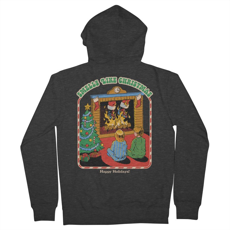 Smells Like Christmas Men's French Terry Zip-Up Hoody by Steven Rhodes