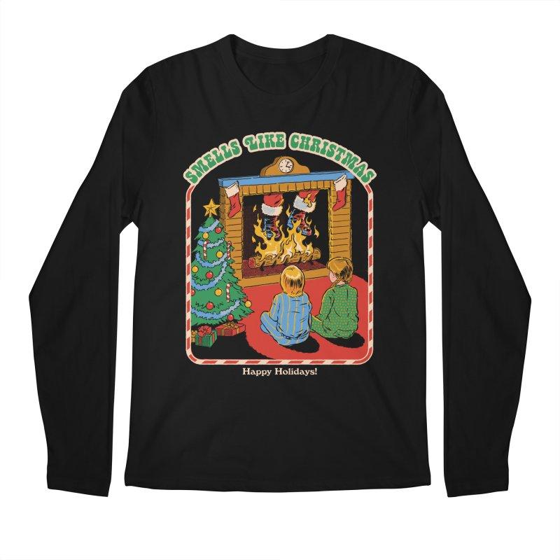 Smells Like Christmas Men's Regular Longsleeve T-Shirt by Steven Rhodes