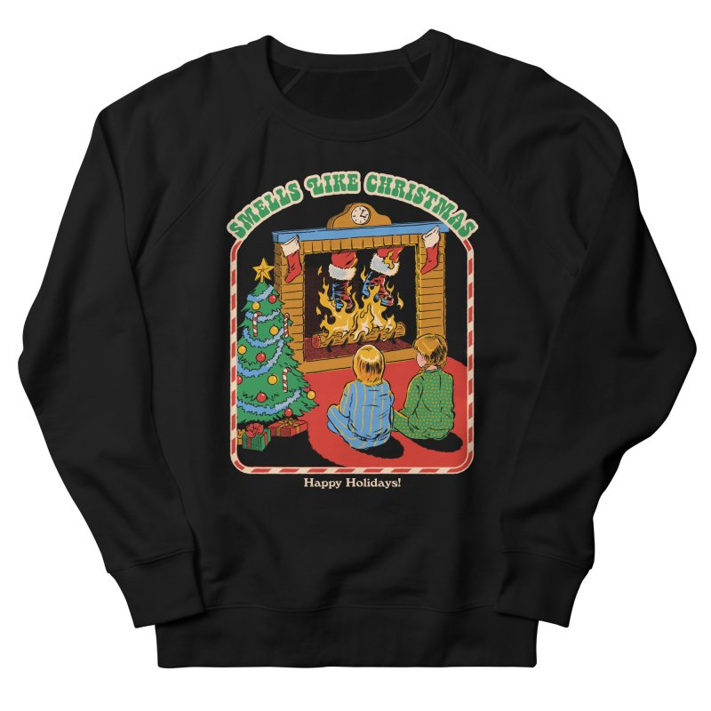 Smells Like Christmas Men's French Terry Sweatshirt by Steven Rhodes