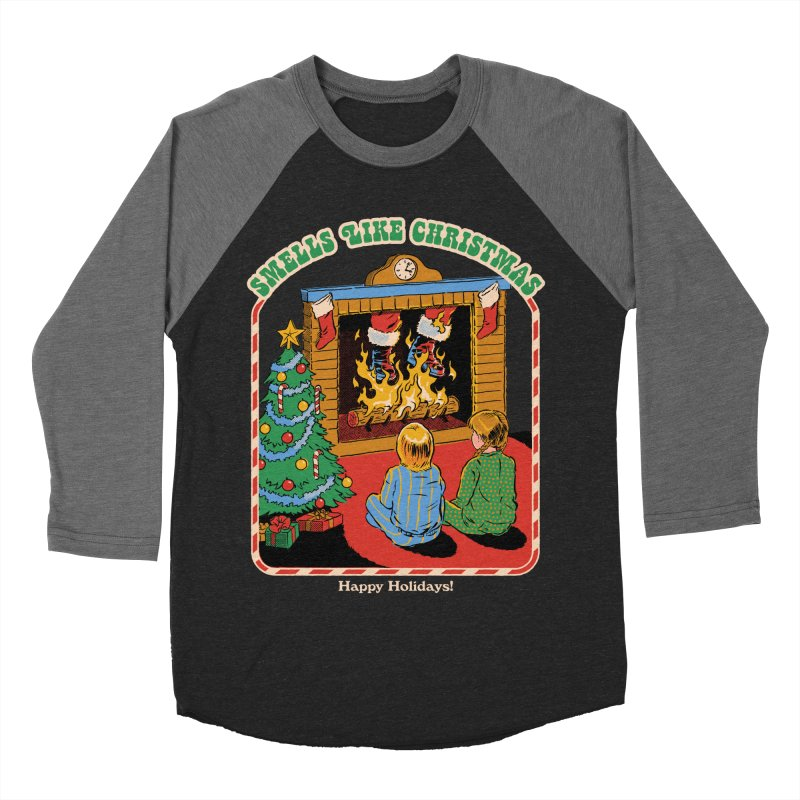 Smells Like Christmas Women's Baseball Triblend Longsleeve T-Shirt by Steven Rhodes