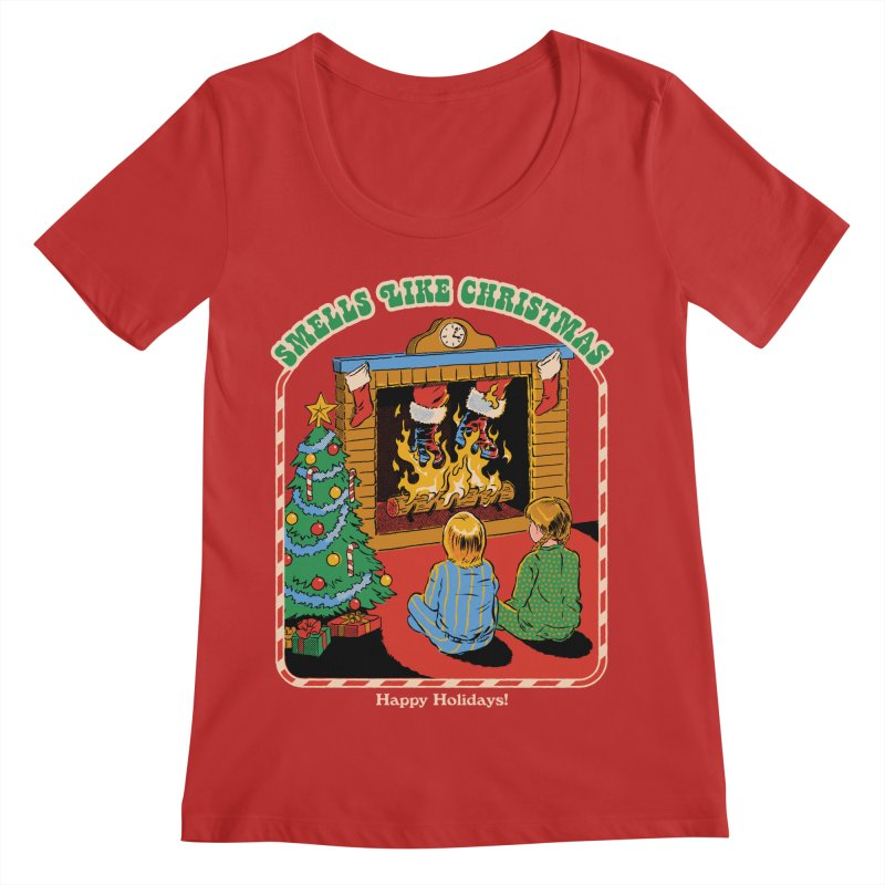 Smells Like Christmas Women's Regular Scoop Neck by Steven Rhodes