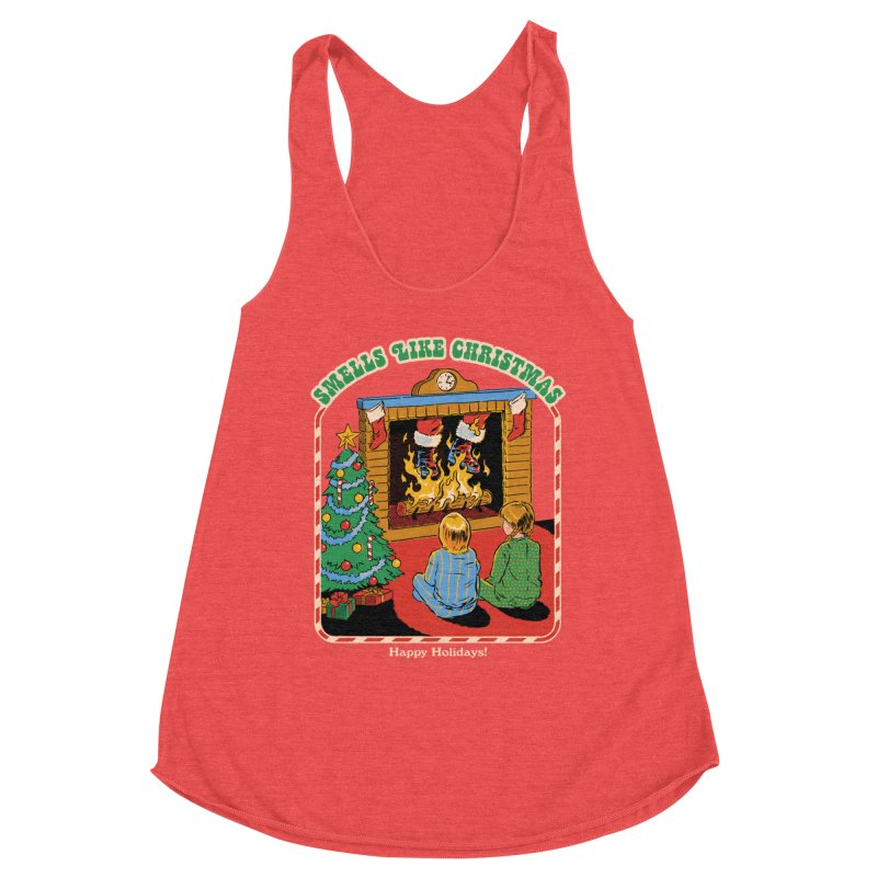 Smells Like Christmas Women's Racerback Triblend Tank by Steven Rhodes