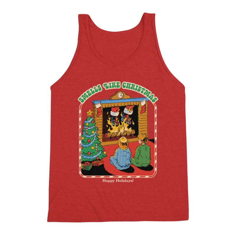 Smells Like Christmas Men's Triblend Tank by Steven Rhodes
