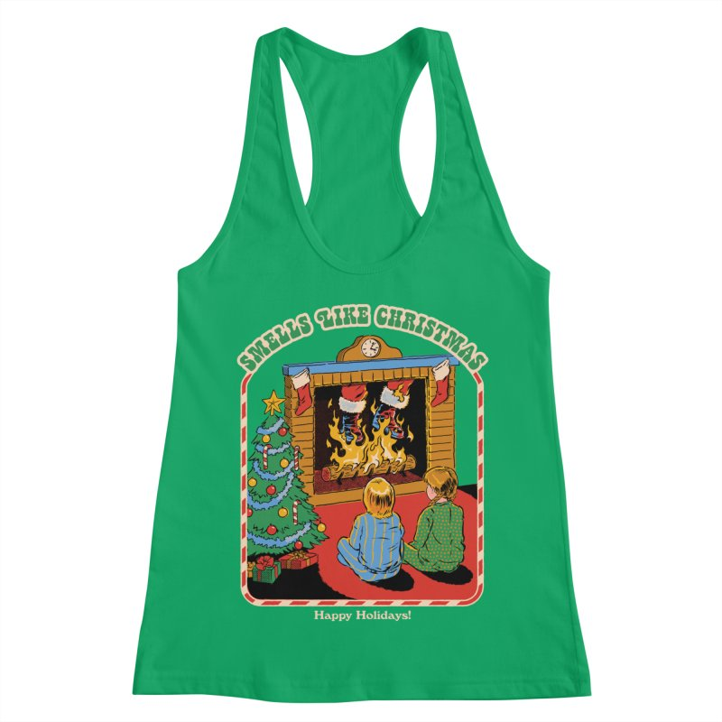 Smells Like Christmas Women's Racerback Tank by Steven Rhodes