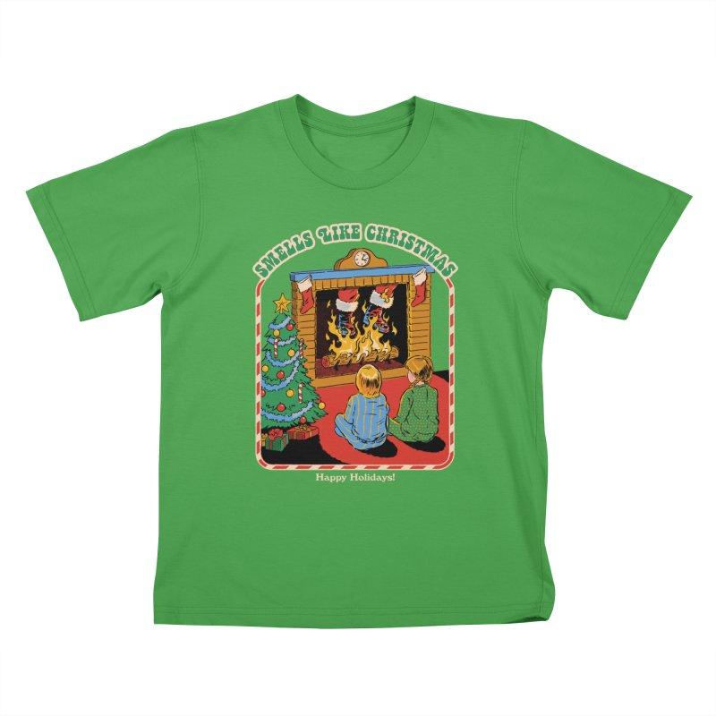 Smells Like Christmas Kids T-Shirt by Steven Rhodes