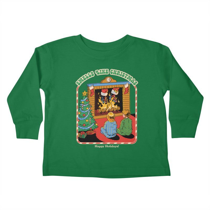 Smells Like Christmas Kids Toddler Longsleeve T-Shirt by Steven Rhodes