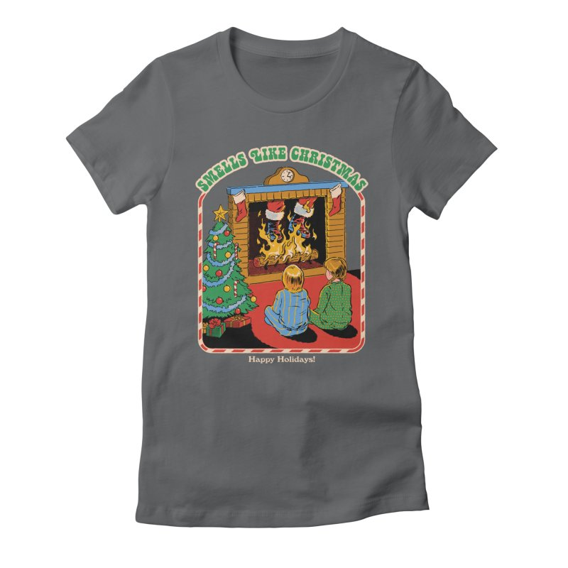 Smells Like Christmas Women's Fitted T-Shirt by Steven Rhodes