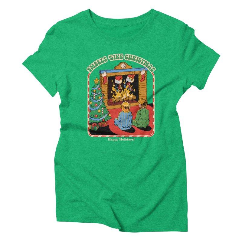 Smells Like Christmas Women's Triblend T-Shirt by Steven Rhodes