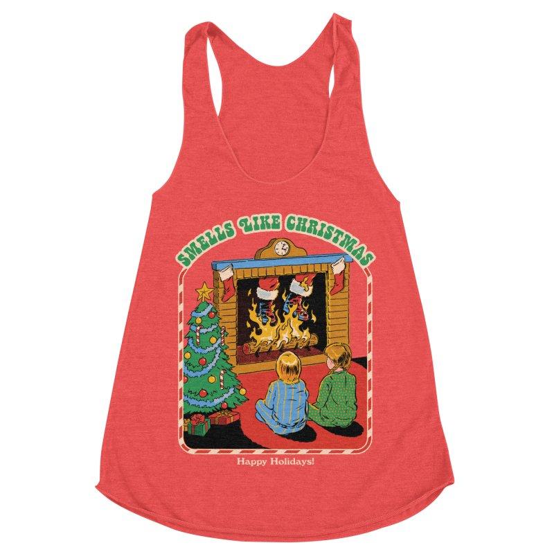 Smells Like Christmas Women's Racerback Triblend Tank by Steven Rhodes