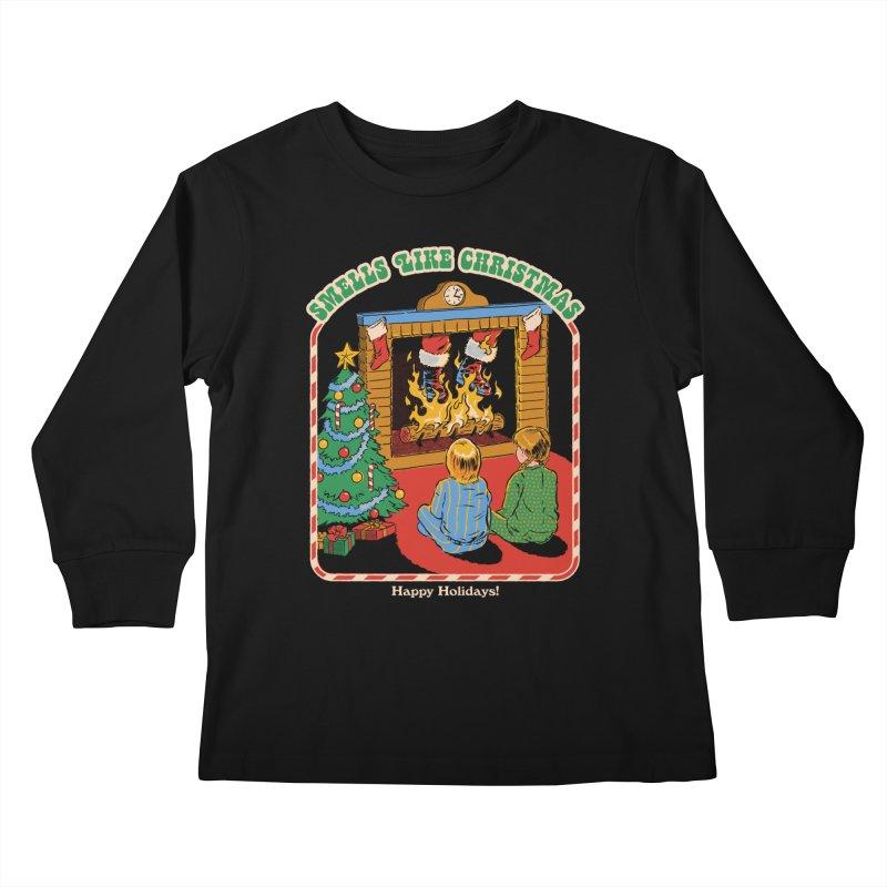 Smells Like Christmas Kids Longsleeve T-Shirt by Steven Rhodes