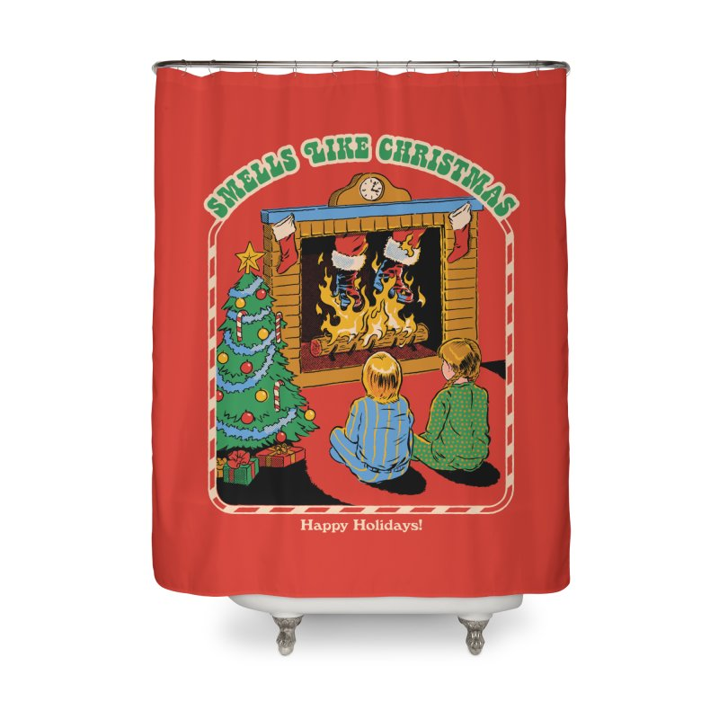 Smells Like Christmas Home Shower Curtain by Steven Rhodes