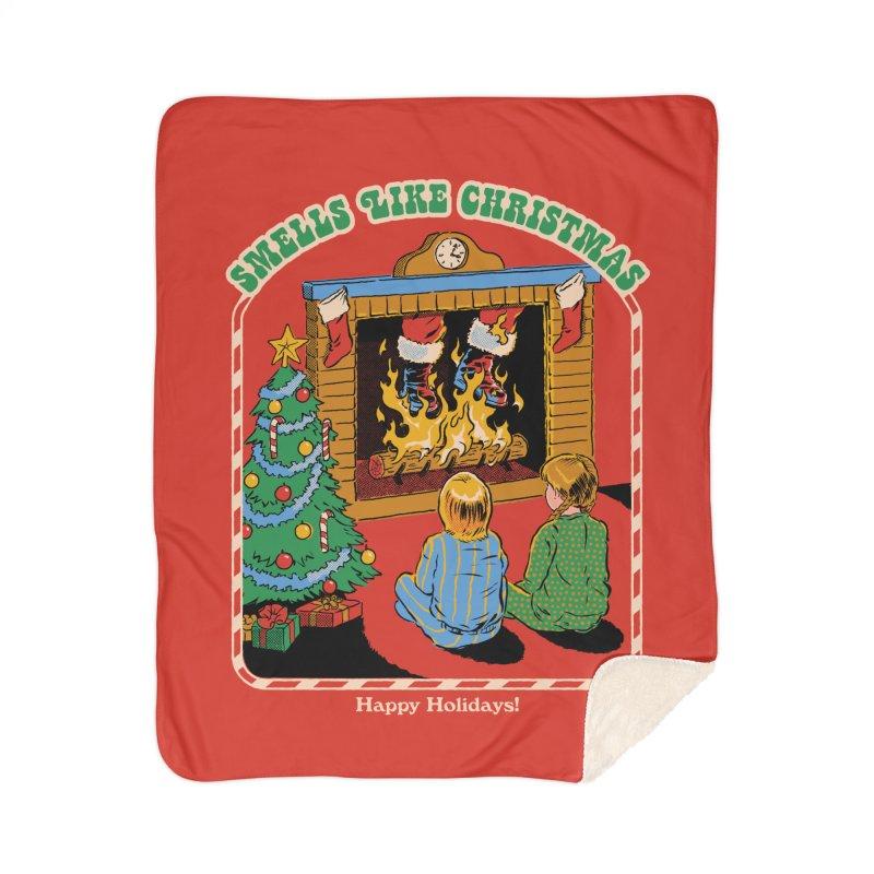 Smells Like Christmas Home Sherpa Blanket Blanket by Steven Rhodes