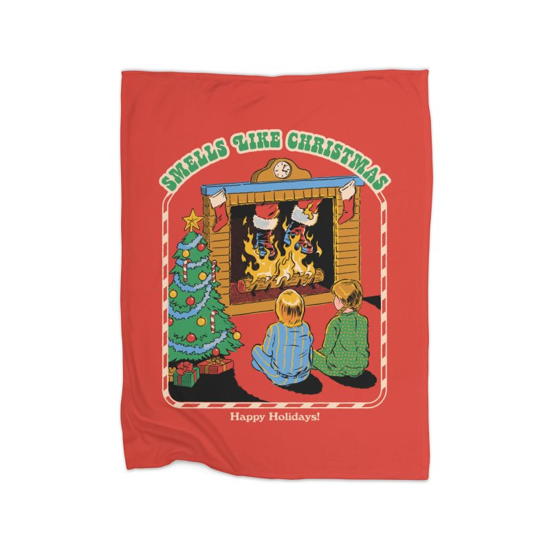 Smells Like Christmas Home Fleece Blanket Blanket by Steven Rhodes