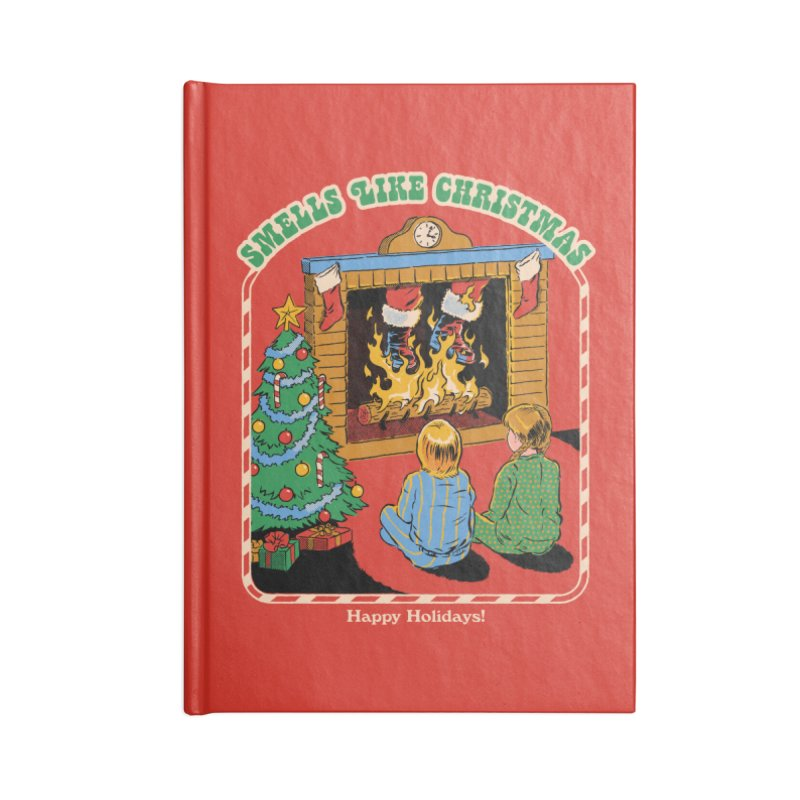 Smells Like Christmas Accessories Lined Journal Notebook by Steven Rhodes