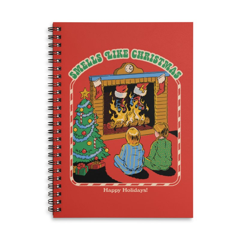 Smells Like Christmas Accessories Lined Spiral Notebook by Steven Rhodes