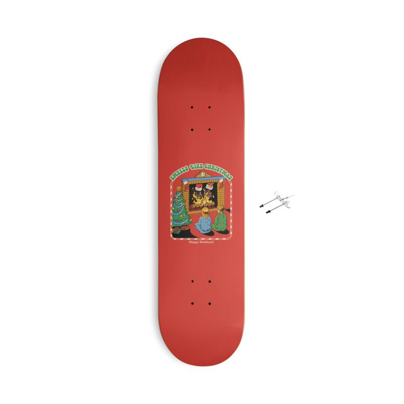 Smells Like Christmas Accessories With Hanging Hardware Skateboard by Steven Rhodes