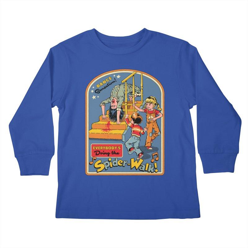 Everybody's Doing the Spider-Walk! Kids Longsleeve T-Shirt by Steven Rhodes