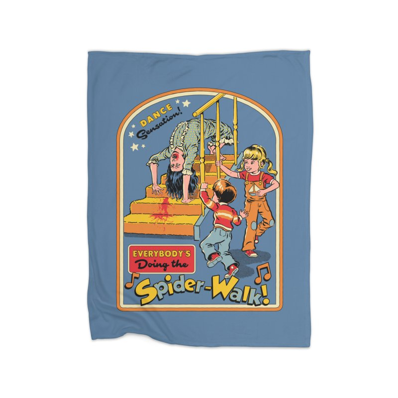 Everybody's Doing the Spider-Walk! Home Fleece Blanket Blanket by Steven Rhodes