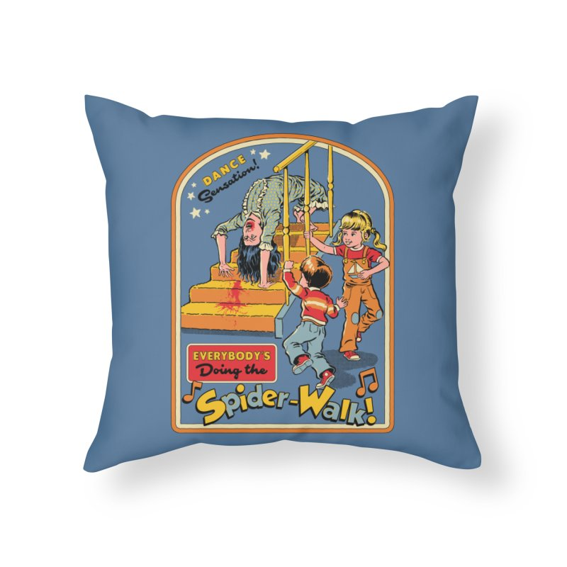 Everybody's Doing the Spider-Walk! Home Throw Pillow by Steven Rhodes