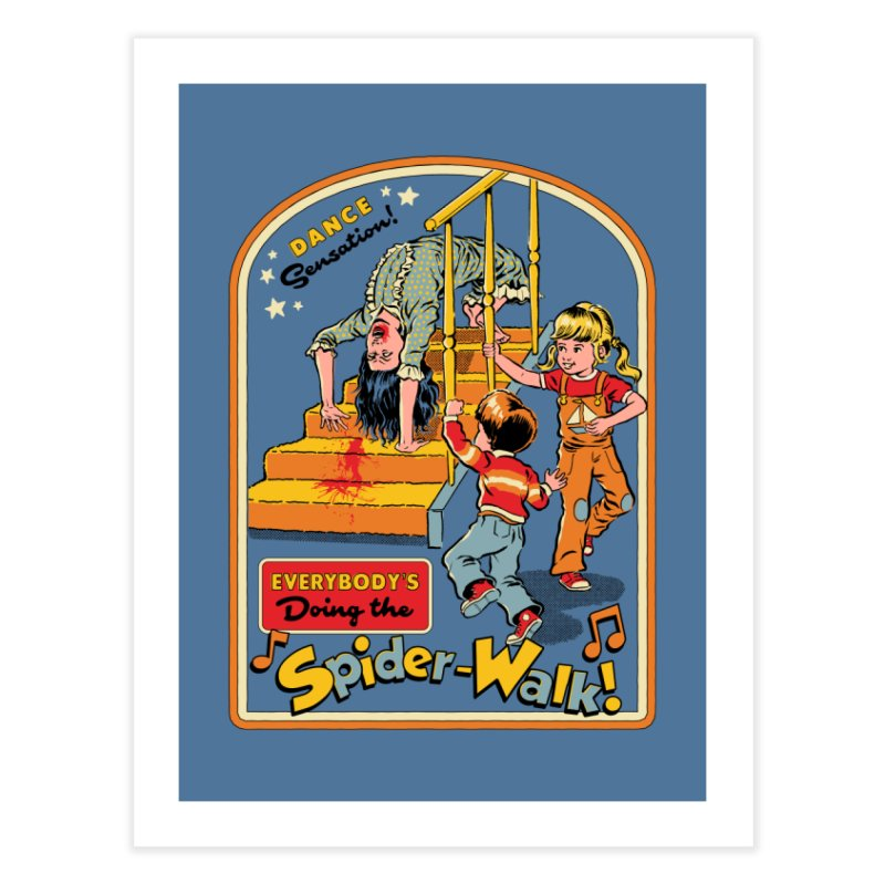 Everybody's Doing the Spider-Walk! Home Fine Art Print by Steven Rhodes