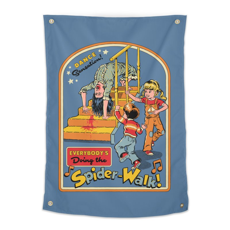 Everybody's Doing the Spider-Walk! Home Tapestry by Steven Rhodes
