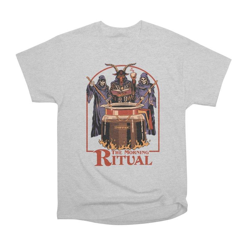 The Morning Ritual Men's Heavyweight T-Shirt by Steven Rhodes