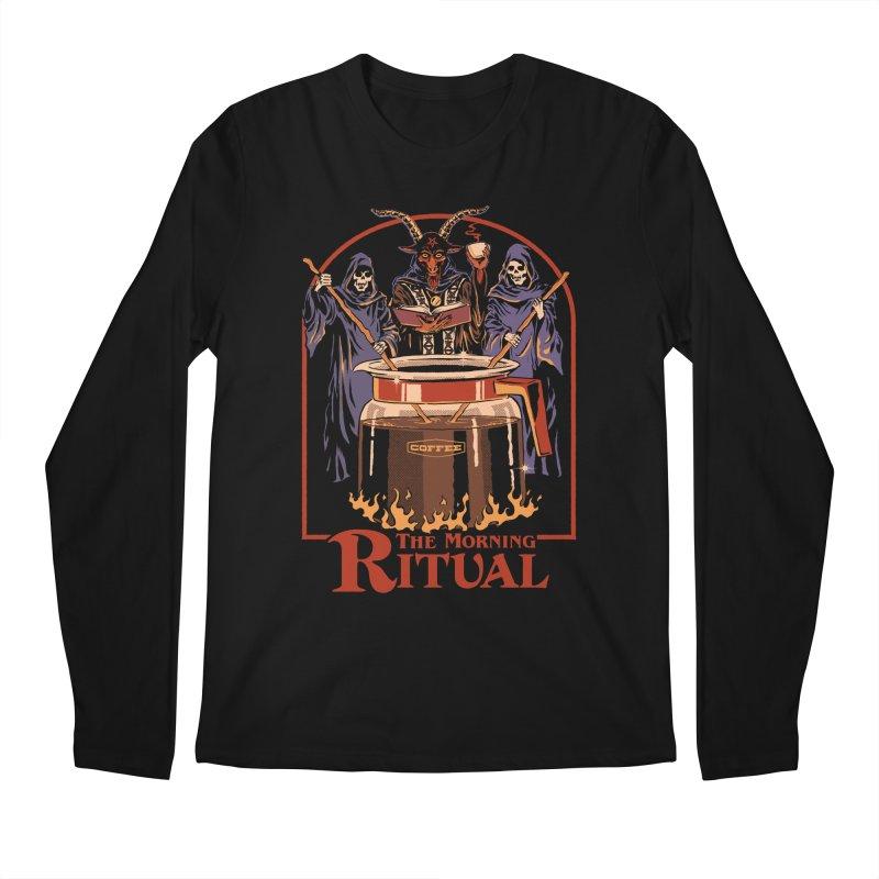 The Morning Ritual Men's Regular Longsleeve T-Shirt by Steven Rhodes