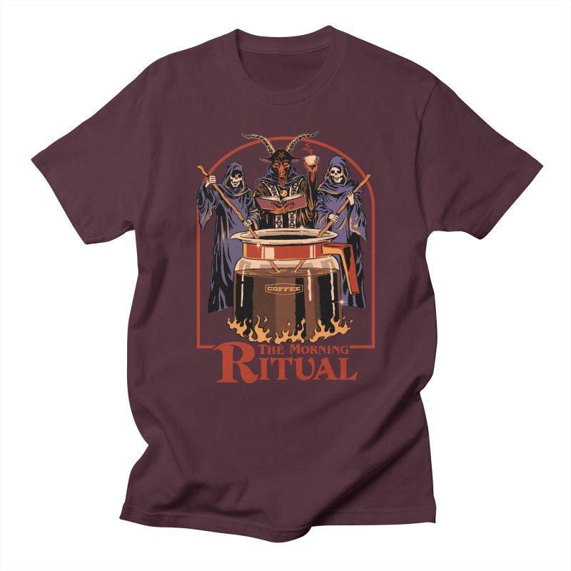 The Morning Ritual Men's Regular T-Shirt by Steven Rhodes
