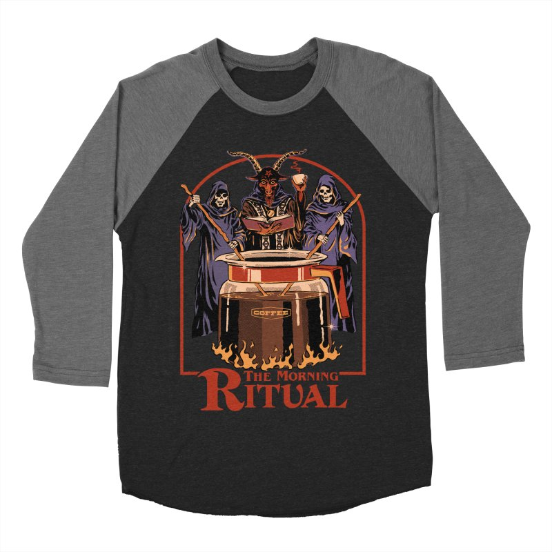 The Morning Ritual Men's Baseball Triblend Longsleeve T-Shirt by Steven Rhodes