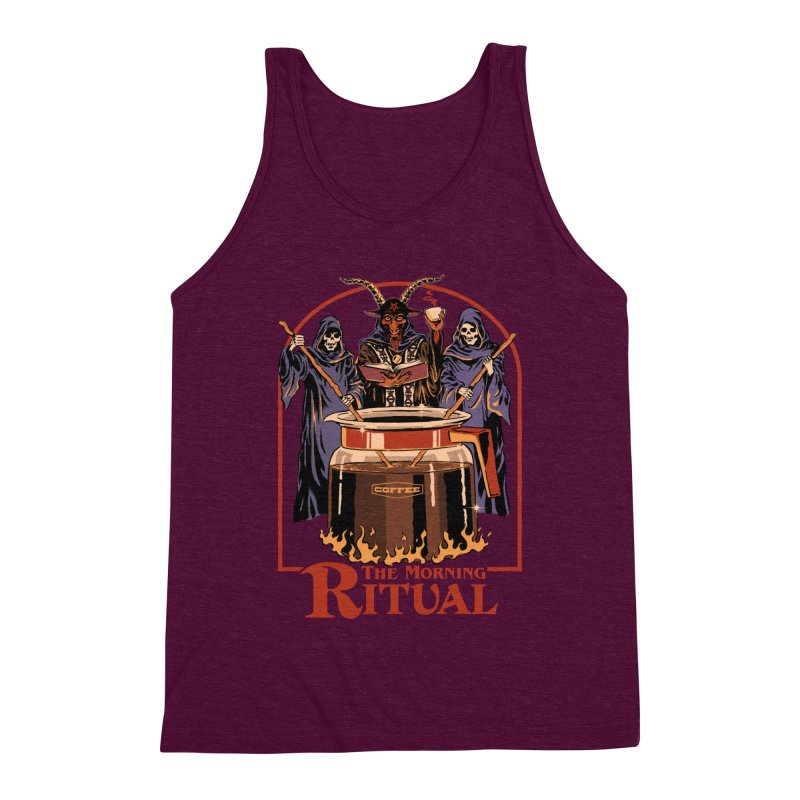 The Morning Ritual Men's Triblend Tank by Steven Rhodes