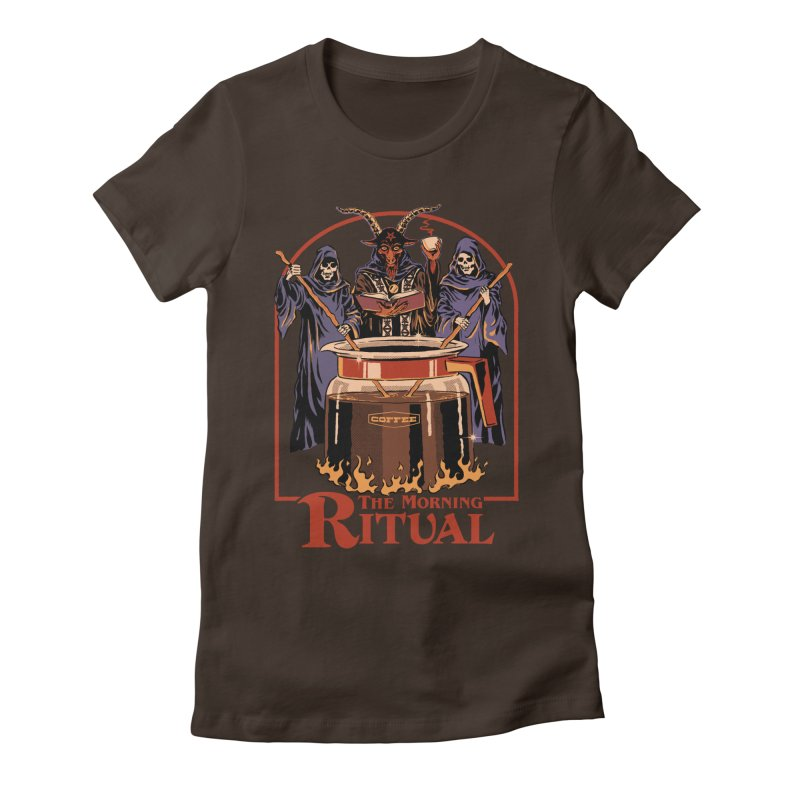 The Morning Ritual Women's Fitted T-Shirt by Steven Rhodes