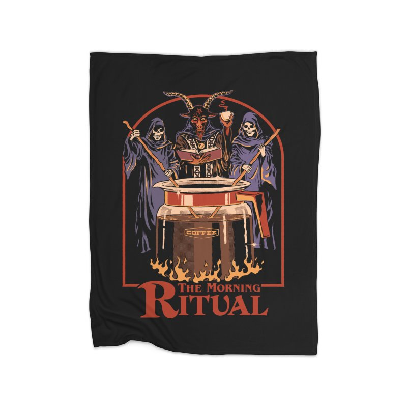 The Morning Ritual Home Fleece Blanket Blanket by Steven Rhodes